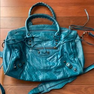 Reserved - Balenciaga turquoise crossbody
